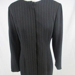 ANN TAYLOR LOFT Size 8 Black Button Down Dress